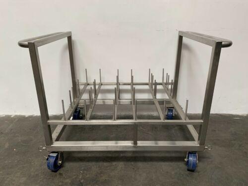 """Heavy Duty Stainless Steel Rolling Cart 44"""" x 32"""""""