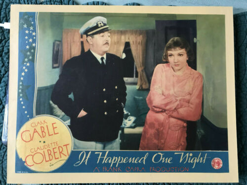 """It Happened One Night 1934 Columbia 11x14"""" comedy lobby card Claudette Colbert"""