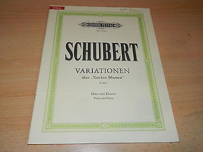 "Noten - Klavier & Flöte - Schubert - Variationen über ""Trockne Blumen"" D 802"