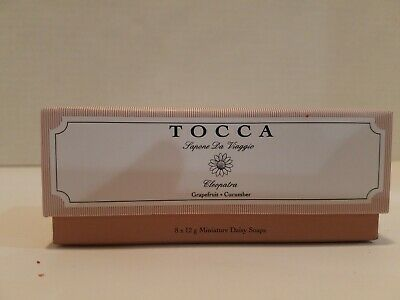 Tocca Cleopatra Soap Gift Set 8 x 12g mini soaps. Grapefruit cucumber  Gift Set Soap