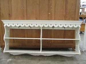C26036 Lg White FRENCH Chic Country Kitchen Wall Shelf Bookshelf Unley Unley Area Preview