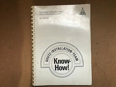 Deutz Directions For The Installation Of Aircooled Diesel Engine Manual Know How