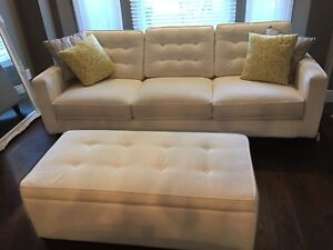 Custom made couch and ottoman