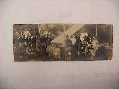 Real Photo Postcard RPPC WW1 Camp 1918 Soldiers Black  Americana #1964