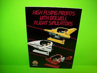 Bolwell FLIGHT SIMULATORS Vintage Original Kiddie Ride Promo Sales Flyer Foldout