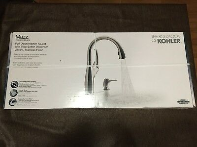 Kholer Mazz R72511-SD-VS / Pull down kitchen faucet with dispenser / NEW IN BOX