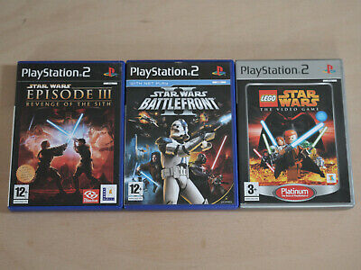 Star Wars ps2 Games Bundle, Playstation 2, Battlefront 2, Lego, Revenge of Sith