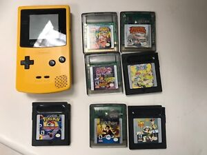 GameBoy Color with 8 games