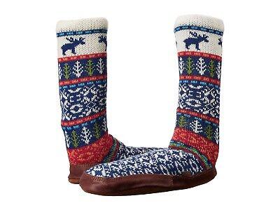 Acorn Slipper Socks Main Woods Jacquard Ragg Wool Mens Womens All Sizes