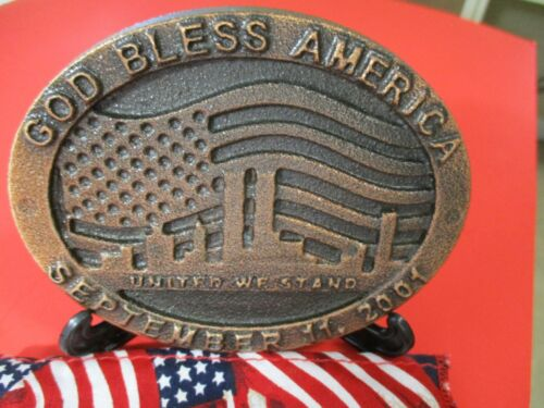 World Trade Center Recovered Steel Medallion - Commemorative Paperweight (COA)
