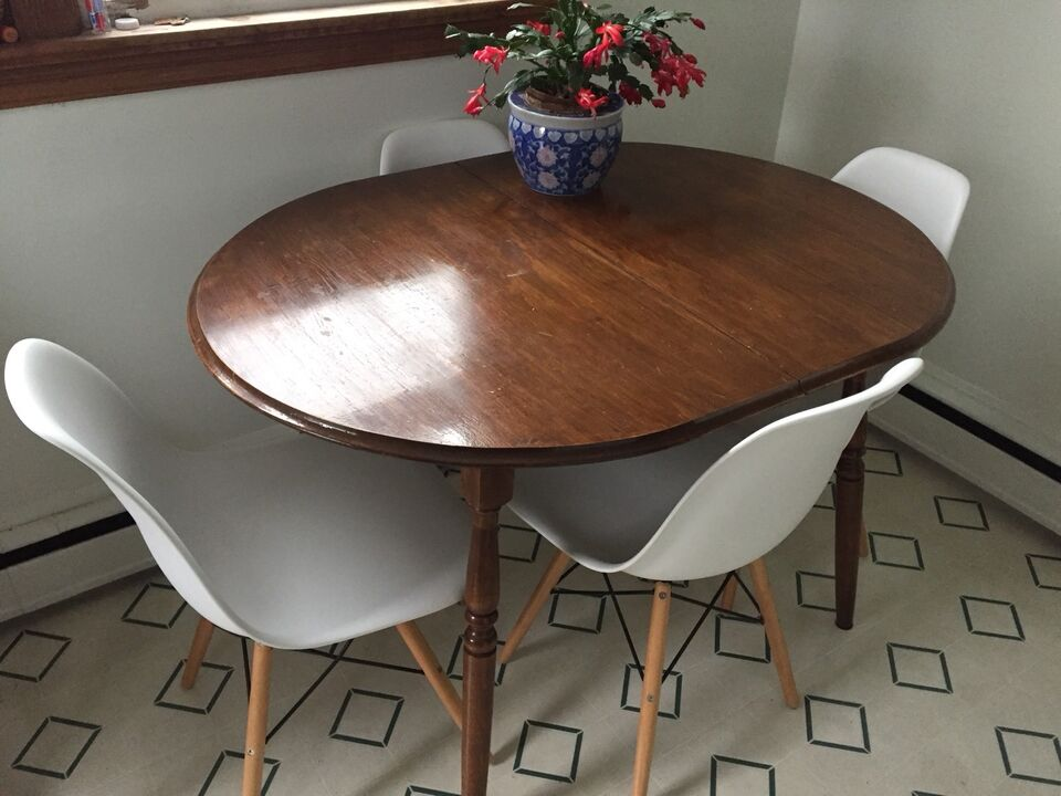 Hardwood Oval Kitchen Dining Room Table