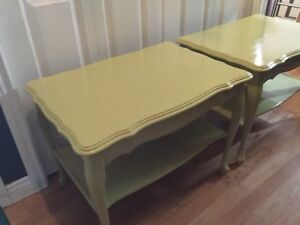 Side table set of 2 - citrus green