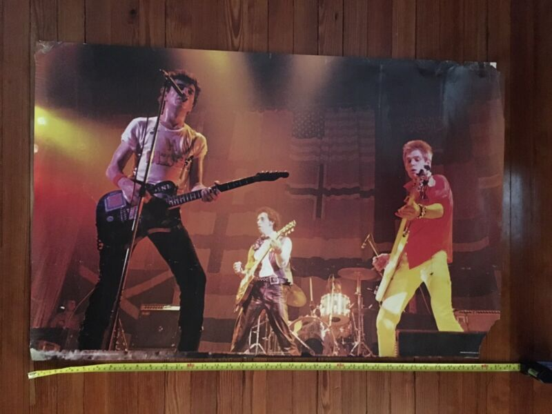 The Clash : Vintage Original 1979 Wall Poster by Pace International - Scotland