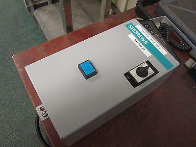 Siemens Enclosed Starter Sxl Bo Size 0 600v 18a 240v Coil Used