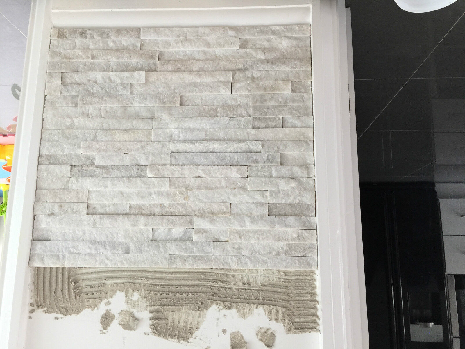 Split Face Natural Stone White Quartz Wall Cladding Tiles