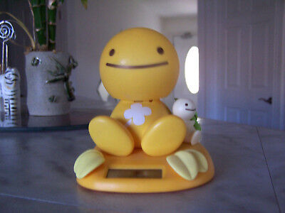 RARE!!! 2002 Tomy NoHoHon Solar Bobble Head Yellow Shamrock Figure Body