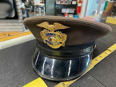 1950s Mens Hats | 50s Vintage Men's Hats Vtg Security guard Cap Hat 1950's Midway Cap Co 5 star Military? Army? Badge $29.95 AT vintagedancer.com