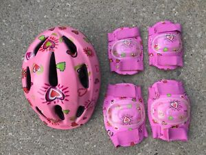 Bicycle Helmet with Matching Elbow and Knee Pads