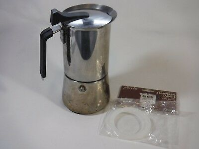 6 Cup Stovetop Espresso Maker with new gaskets