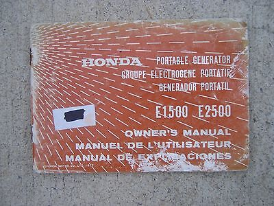 1977 Honda E1500 E2500 Portable Generator Owner Manual More In Our Store S
