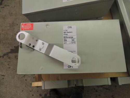 BOS14354 SIEMENS I.T.E. BD SWITCH PLUG, RECON 200 AMP, 600V