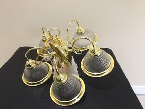 5 lights gold chandelier (NEW)