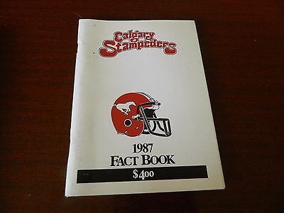 1987 Calgary Stampeders Fact book Guide CFL nice*clean