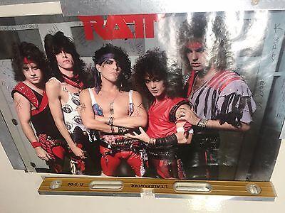 Original 1984 Ratt rock Poster 34x22