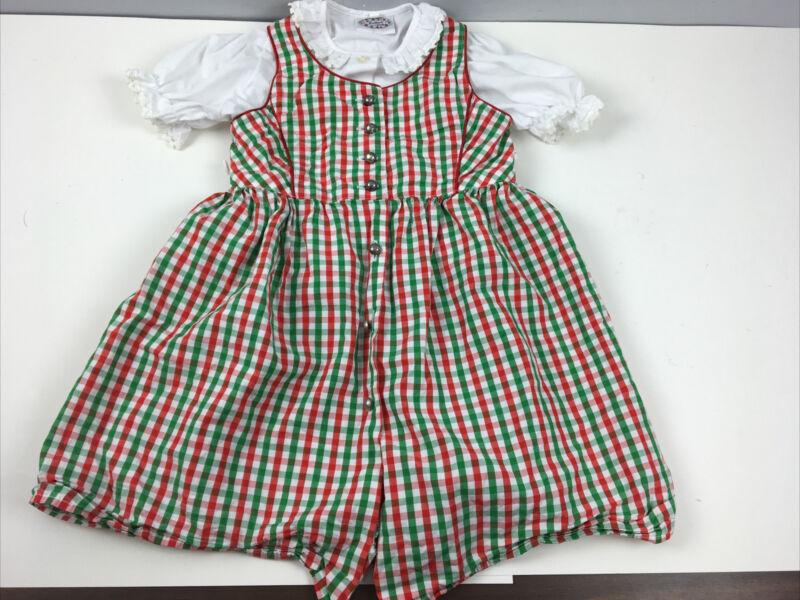 Vtg St Peter Country Kids 2 Pc Oktoberfest Girls German Dress 86/92 cm TT35