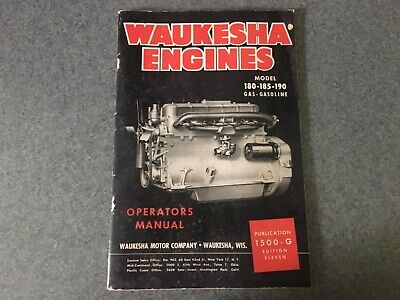 Waukesha Engines Operators Manual Model 180-185-190