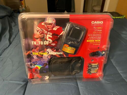 "Vintage Casio TV-980 2.3"" Color LCD TV Portable Television"