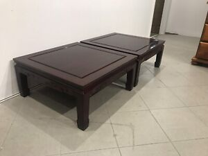 Nearly new rosewood solid wooden side table ($120 for each )