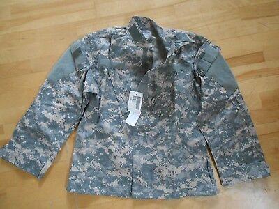New ACU Digital Camo Army Military Combat Blouse Uniform BDU Shirt SM, XShort
