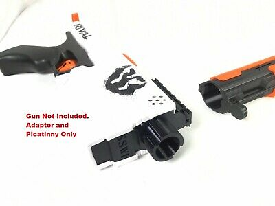 Rival Kronos Extended Muzzle Brake Plate Adapter & Picatinny Rail Nerf Upgrade