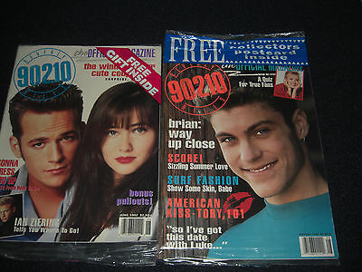 Beverly Hills 90210 Official 1992 Magazines Lot of 2 New