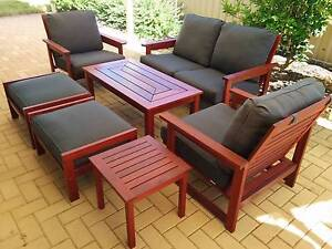 Wooden (Keruing Timber) Outdoor Furniture - 7 Piece Set Hocking Wanneroo Area Preview