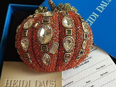 NIB HALLOWEEN THANKSGIVING Heidi Daus Gourdgeous Pumpkin PIN BROOCH JEWELRY LRG - Heidi Halloween