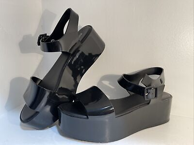 Melissa Mar Platform Black Sandals US Size 9