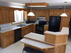 Oak kitchen cabinets/ appliances