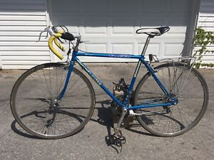 Vintage Schwinn Road Bike With Rack