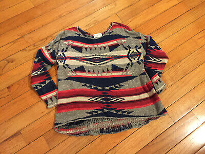 Denim & Supply ralph Lauren women's cotton knit aztec lightweight sweater large