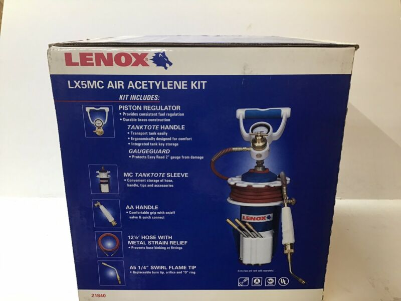 Lenox LX5MC Air Acetylene Torch Kit 21840 NEW OPEN BOX