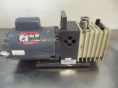 Alcatel Vacuum Pump Ty. Zm2004 No. 22787 With Dayton Motor 12hp 1725rpm S2670x