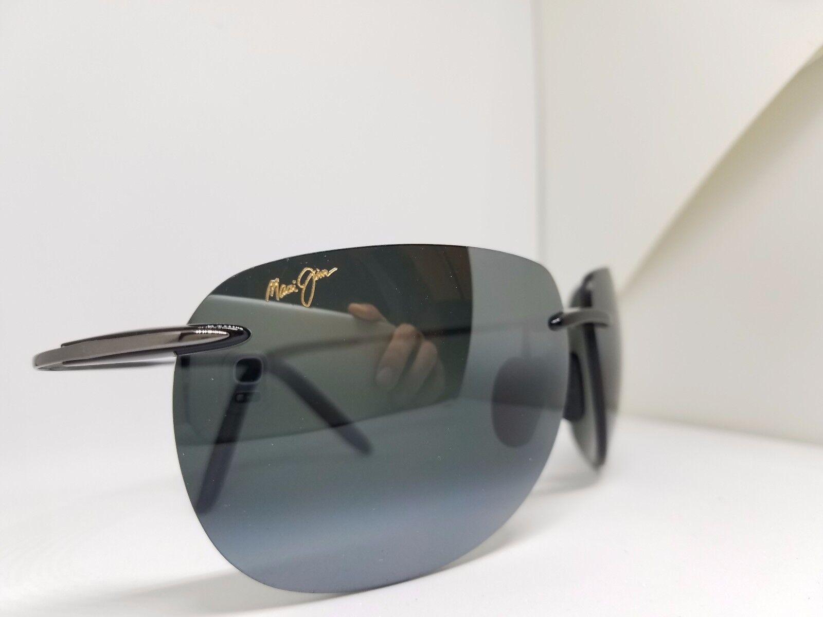 Maui Jim Unisex Nakalele Black/Gunmetal Sunglasses