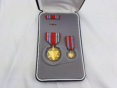 Combat Readiness Medal Original US Orden im Etui SONDERSET Ribbon Pin