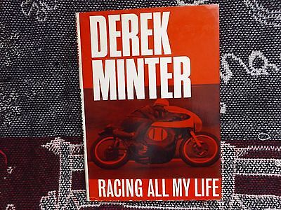 DEREK MINTER - RACING ALL MY LIFE - 1965 HB DJ BOOK