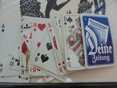 29322 Spielkarten Reklame Skat General-Anzeiger Stadt Wuppertal kpl sehr gut