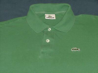 Men's Lacoste Green Long Sleeve Polo Shirt with Logo Size 4 Medium