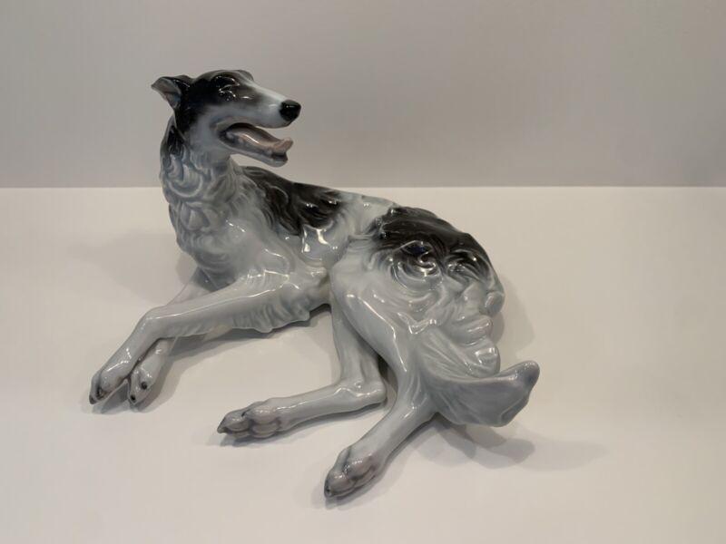 Borzoi-Russian Wolfhound Rosenthal Selb Porcelain Figurine Mid 20th Century EUC