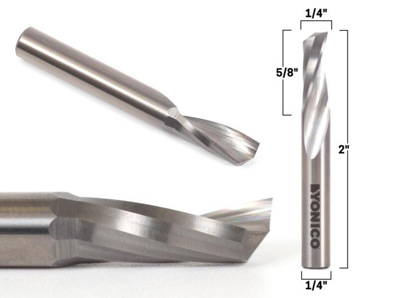 "1/4"" Diameter O Flute Upcut Endmill CNC Router Bit  1/4"" Shank - Yonico 31013-SC"